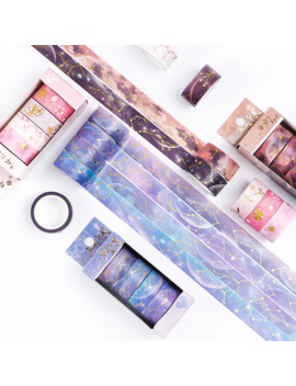 Starry Sky Cherry Blossoms Bullet Journal Washi Tape Set Adhesive Tape Diy Scrapbooking Sticker Label Japanese Stationery by Ali Express.Com