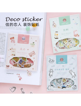 Animal Eating Drinking Series Decorative Stationery Stickers Scrapbooking Diy Diary Album Stick Label by Ali Express.Com