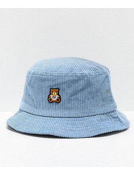 Teddy Fresh Corduroy Blue Bucket Hat by Teddy Fresh