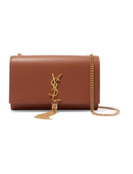 Monogramme Kate Large Leather Shoulder Bag by Saint Laurent