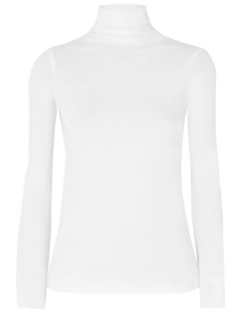 Cotton Jersey Turtleneck Top by Vince