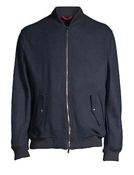 Cashmere Blend Bomber Jacket by Isaia