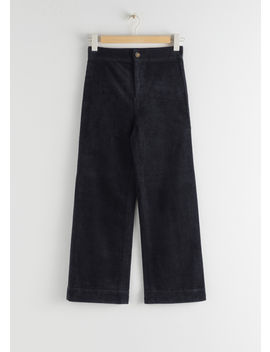 Relaxed Corduroy Trousers by & Other Stories