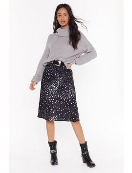 She's Got That Star Power Polka Dot Midi Skirt by Nasty Gal