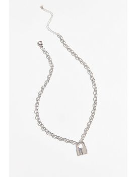 Billie Chunky Lock Pendant Necklace by Urban Outfitters