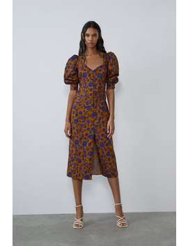 Printed Poplin Dress New Intrf by Zara