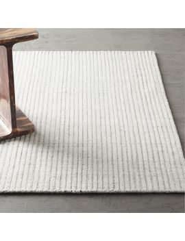 Ridge Ivory Rug by Crate&Barrel