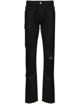 Skinny Jeans Mit Verzierungen by Raf Simons