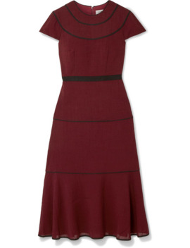 Grosgrain Trimmed Voile Midi Dress by Cefinn