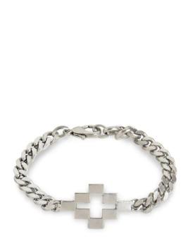 Logo Cross Metal Bracelet by Marcelo Burlon County Of Milan