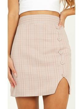 Cancelled Plans Skirt In Pink Check by Showpo Fashion