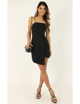 Waiting For A Miracle Dress In Black by Showpo Fashion