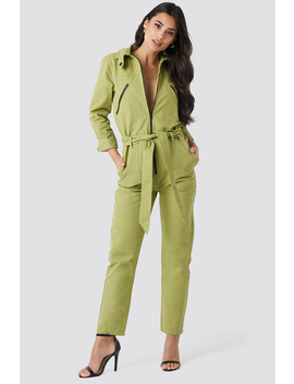 Utility Jumpsuit Green by Na Kd