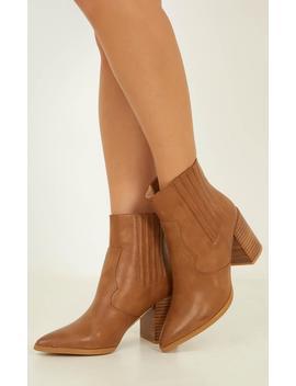 Billini   Austin Boots In Tan by Showpo Fashion