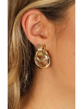 One Big Party Earrings In Gold by Showpo Fashion