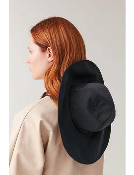 Wide Brim Nylon Hat by Cos
