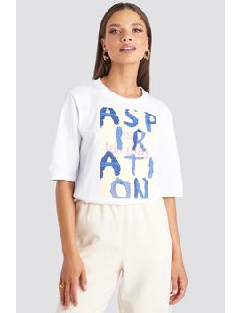 Aspiration T Shirt White by Emiliebritingxnakd