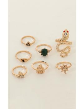 Living Large Ring Set In Gold And Emerald by Showpo Fashion