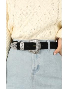 All You Need Is Love Belt In Black And Silver by Showpo Fashion