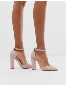 public-desire-sofia-blush-croc-block-heeled-shoes by public-desire