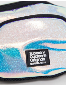 Superdry Holo Glitter Bum Bag by Superdry