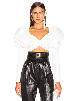 Cropped Bustier Bow Top by Rodarte