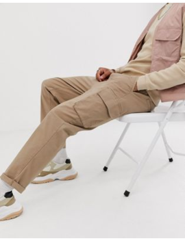 asos-design-relaxed-cargo-pants-in-stone by asos-design