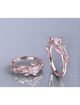 Ivy Fleur   Natural Morganite And Diamond Gold Flower Vine Engagement Ring   Choose Your Metal by Etsy