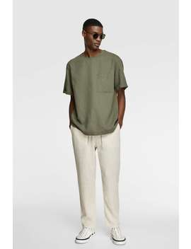 Rustic Drawstring Trousers Special Pricesman by Zara