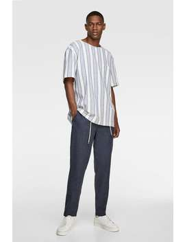 Contrast Striped T Shirtspecial Prices Man by Zara