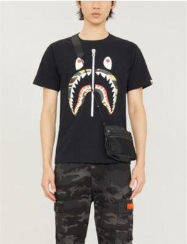 1st Camo Shark Print Cotton Jersey T Shirt by A Bathing Ape