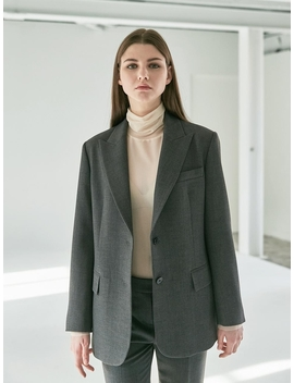 Peaked Collar Normcore Jacket (2 Color) by Collabotory