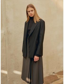 Peaked Collar Blazer Black by Mohan