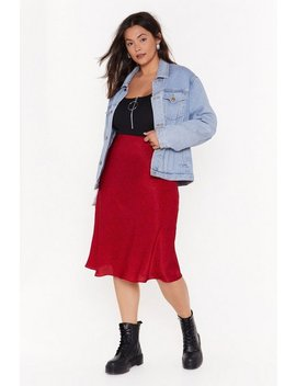 Spot Right Now Babe Plus Midi Skirt by Nasty Gal