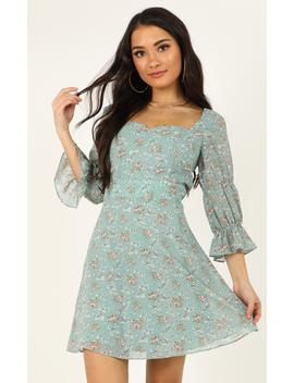 Fortunate Life Dress In Teal Floral by Showpo Fashion