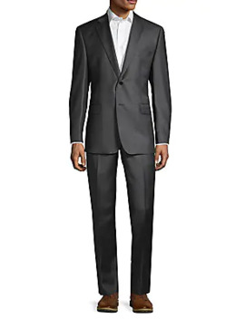 Slim Fit Wool Suit by Saks Fifth Avenue Made In Italy