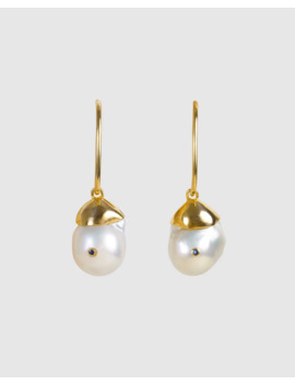Baroque Pearl Neptune Hoops by Fairley