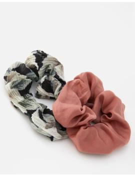 Komplet 2 Gumek Do Włosów W Kwiaty by Pull & Bear