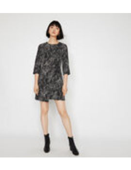 Croc Wrap Front Mini Dress by Warehouse