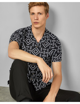 Short Sleeved Cotton Printed Shirt by Ted Baker