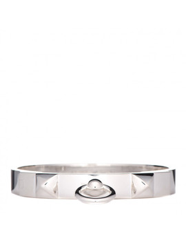 Hermes Sterling Silver Collier De Chien Pm Bracelet Lg by Hermes