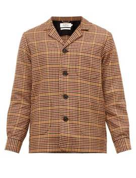 Houndstooth Checked Twill Overshirt by Schnayderman's