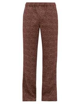 Mélange Jacquard Cotton Blend Trousers by Schnayderman's