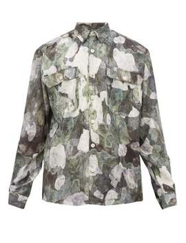 Camouflage Print Twill Shirt by Schnayderman's