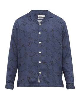 Graphic Print Twill Shirt by Schnayderman's