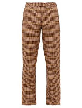 Houndstooth Checked Twill Trousers by Schnayderman's