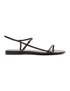 Sandales Noires Bare Flat by The Row
