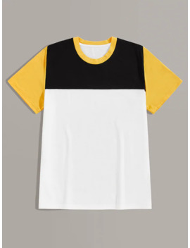 Men Cut And Sew Tee by Shein