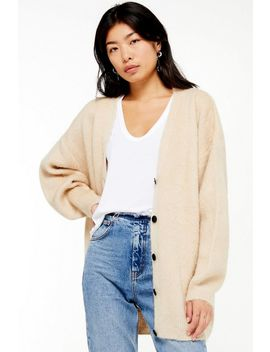 Stone Cocoon Cardigan by Topshop