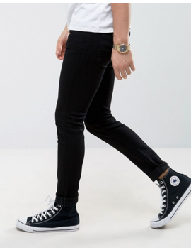 Nudie Jeans Co Skinny Lin Skinny Fit Jeans In Black by Nudie